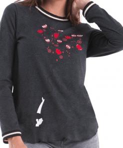 camiseta algodón detalles